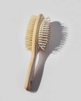 Wooden Pet Hair Brush - Double Sided