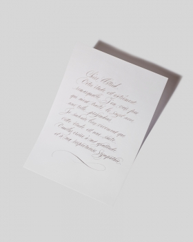 Hand-written calligraphy mail service